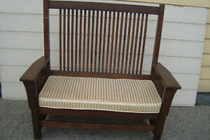 59211 Mission Oak Loveseat Settee Sofa Couch Cair