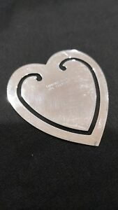 Vintage Tiffany Co Sterling Silver Heart Shaped Page Bookmark R172
