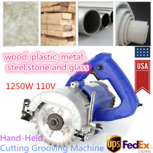 Hand held Portable Cutter Tile Saw Wood Metal Stone Cutting Machine Kit 1250w Us