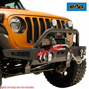 Eag 18 19 Jeep Wrangler Jl Front Bumper Rock Crawler With Winch Plate
