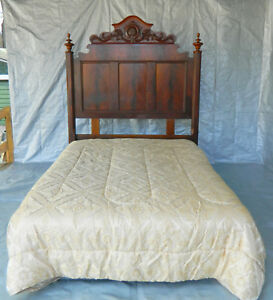 Mahogany Empire Bed Headboard With Metal Frame Queen