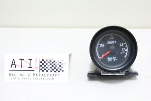 Rare Vintage Blitz Turbo Boost Gauge Black 52mm Jdm Blitz Japan