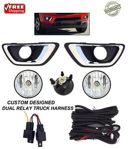 New Fog Light Kit For Fits 2015 2020 Chevrolet Colorado Truck Dual Relay Harness