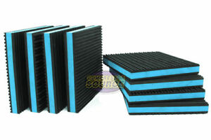 8 Pack Anti Vibration Pads Isolation Dampener Industrial Heavy Duty 6x6x7 8 Blue