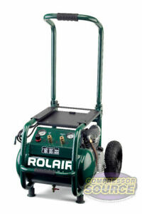 Industrial Contractor Portable 2 5 Hp Air Compressor Rolair Vt25big 115v 130 Psi