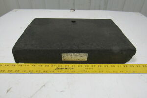 Standridge Black Granite Surface Inspection Plate 18 X 12 X 3 W 1 Thru Hole