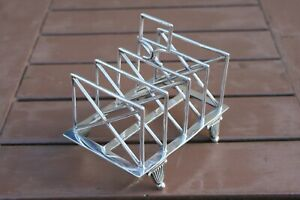 Art Deco Silver Plated Toast Rack William Hutton