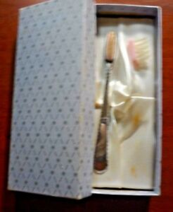 13 6gr Sterling Silver Baby Toothbrush W Box Pink Brush Heads Shower Gift Girl