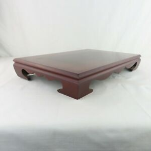 Vintage Chinese Heavy Thick Rosewood Stand Japanese Square 19 X 13