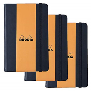 Rhodia Webnotebook Webbies Lined 96 Sheets 5 1 2 X 8 1 4 Black Cover