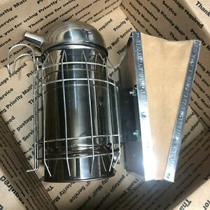 Large German Bee Hive Smoker high Quality Stainless Steel Professional Tool