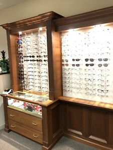 Fashion Optical Legacy Eyeglass Frame Displays Medium Wood Finish 410 Frames