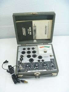 Vintage Mercury Electronic Co Tube Tester Model 1100a W manual Powers On