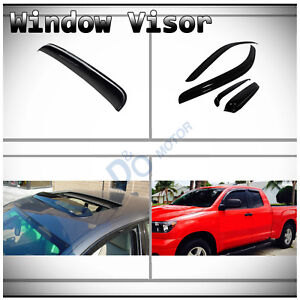 5pc Smoke Vent Shade Window Sun Moon Roof Visor Fit 07 17 Tundra Double Crew Cab