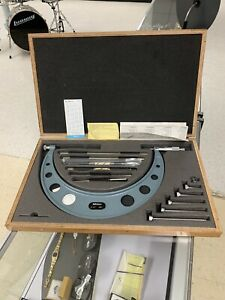 Mitutoyo No 104 138 6 12 Micrometer 001 Set W Case Mint