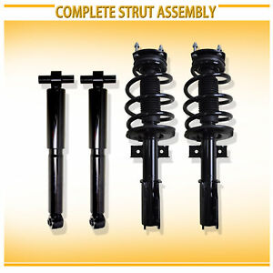New 4pcs Left Right Front Strut Coil Spring Assembly Rear Gas Shock Absorber