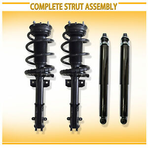 Fit Mustang 4pcs Left Right Front Strut Coil Spring Assembly Rear Shock Absorber