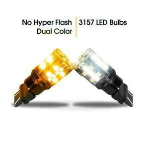 No Hyper Flash 3157 3057 Switchback Led Turn Signal Lights Canbus Smd 3030 2pcs
