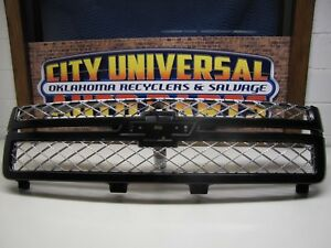 Used Accessory Painted Grill Grille 2012 2013 Chevy Silverado black 22829412