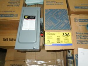Sq D Hu361 Heavy Duty Safety Switch 30a 3p 600v Non fused Type 1 Encl Surplus