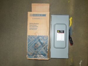 Sq D Hu363rb Heavy Duty Safety Switch 100a 3p 600v Nonfused Type 3r Encl Surplus