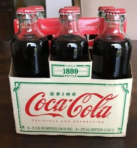 Coca Cola Limited Edition Circa 1899 Unopened Bottles Vintage 6 Bottles/Carrier