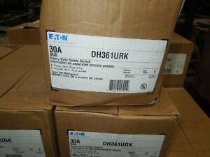 Eaton Dh361urk Heavy Duty Non fusible Safety Switch 30a 3w 600v 3r Outdoor New