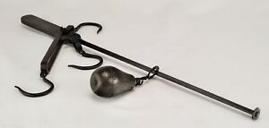 Antique Bemis Call 3 Hook Steelyard Stilyard Or Roman Balance Early 1900 S