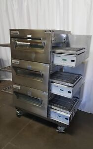 Lincoln Impinger Model 1132 Electric Triple Conveyor Pizza Oven Three Ovens