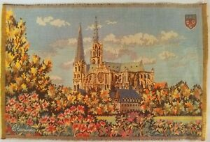 Lot Of 3 Small French Tapestries Chartres Mont Saint Michel Chenonceau 19 5x12 5