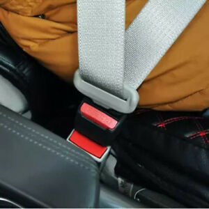 2x Universal Car Auto Seat Belt Buckle Clip Extender Safety Alarm Stopper Top