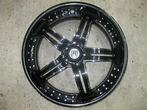 Used 22 Asanti Af135 Wheel In Black Finish Range Rover Hse Sport 3 Avail