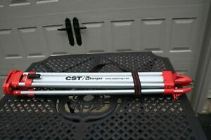 Cst Berger Laser Level Survey Aluminum Tripod Stand Carry Strap Nice Clean