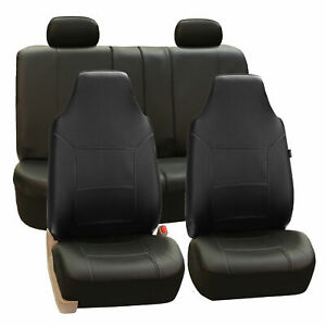Top Quality Sport Line Car Seat Cover Leather Black For Car Suv Truck