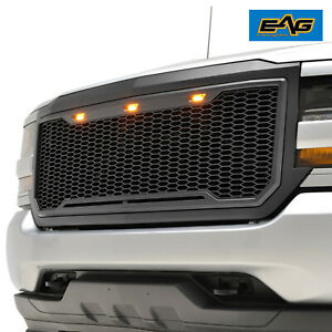 2016 2018 Chevy Silverado 1500 Grille Raptor Style Replacement Led With Shell