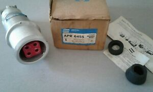 Crouse Hinds Arktite Apr 6455 60 Amp 600 Volt 4 Wire 4 Pole Plug