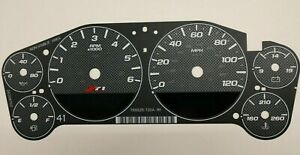 Carbon Fiber Gauge Face Overlay For 2007 2013 Gm Truck And Suv Clusters Z71 New