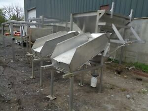 2 Incline Dewatering Rinsing Stations Food Grade Stainless Steel
