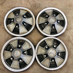 66 67 1966 1967 Dodge Charger R T Dart Gts 14 Mag Style Hub Caps Wheel Covers