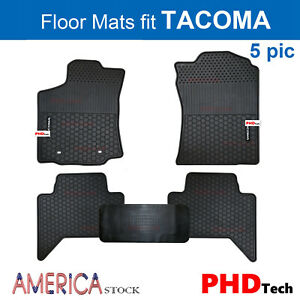Prime All Weather Rubber Slush Car Floor Mats For Toyota Tacoma Crew Cab 5 Pic