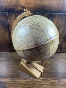 Rare Antique 1920 30s George Phillips Sons Ltd 6 Inch Terrestrial Globe
