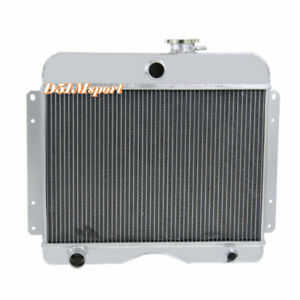 4row Aluminum Radiator For 1949 1964 Jeep Truck 475 Willys Station Wagon L4 l6