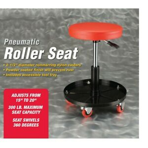 Mechanics Pneumatic Work Shop Stool Pneumatic Adjustable Roller Seat With Wheels