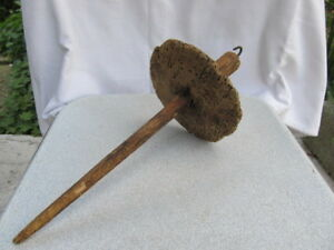 Rare Primitive Very Old Tool For Hand Spinning Wool Hand Carved
