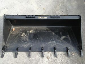 New 66 Skid Steer tractor 5 5 Tooth Bucket Fits Bobcat Case Cat Etc teeth