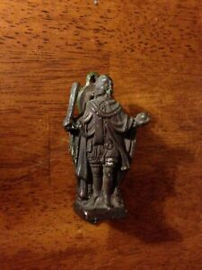 Antique Small Bronze Door Knocker Of Henry Viii Figural