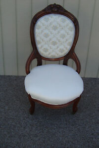59185 Antique Victorian Carved Parlor Chair