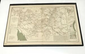 Antique Civil War Map 1864 Military Department Of New Mexico Arizona Territory