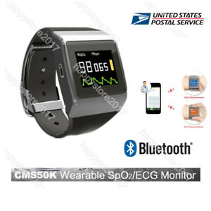 Us Fda Cms50k Wearable Watch Spo2 ecg Pr Sleep Calorie Monitor Wirelessbluetooth