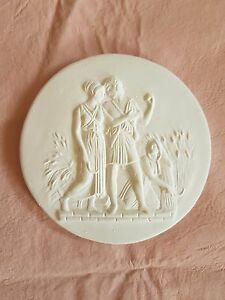 1 Lovers Harvest Scene Grand Tour Cameo Intaglio Medallion Seal Plaster Tassie